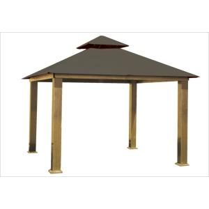 14 ft. x 14 ft. Taupe Gazebo by