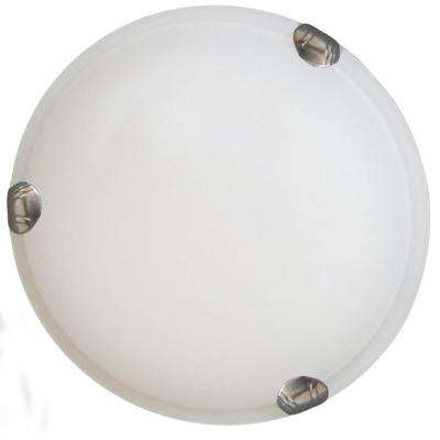 2-Light Satin Steel Flushmount
