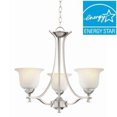 Ironwood 3-Light Satin Nickel Chandelier