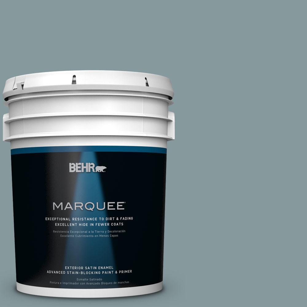 BEHR MARQUEE 5-gal. #ECC-65-3 Teal Wave Satin Enamel Exterior Paint