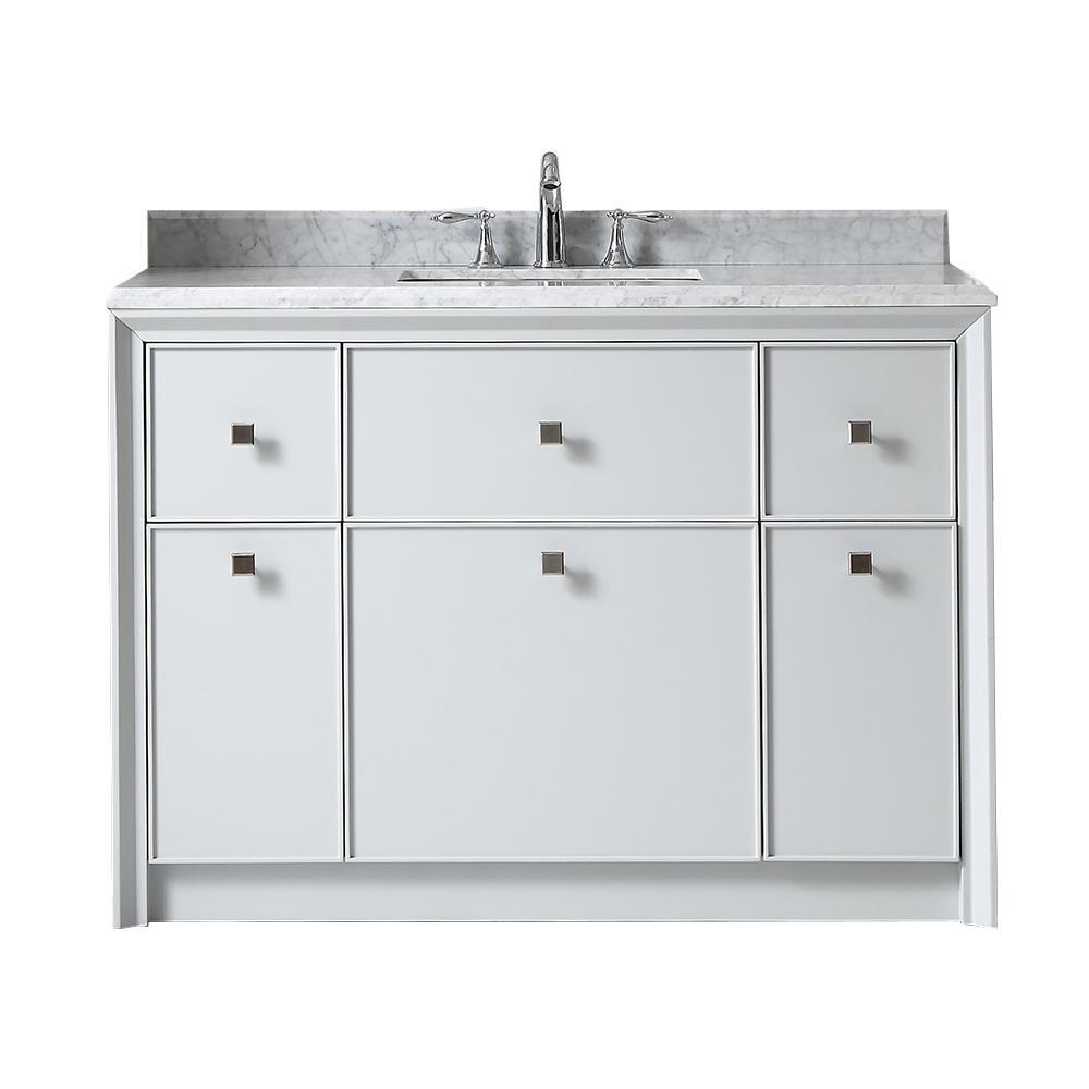 Martha Stewart Living Bath Vanity Dove Grey Marble Top Grey White
