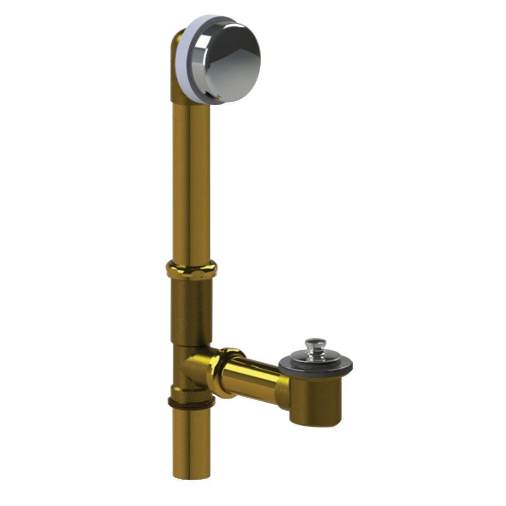 Watco 598 Series 24 in. Tubular Brass Bath Waste with Push Pull ...