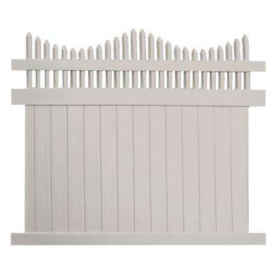 Louisville 5 ft. H x 8 ft. W Tan Vinyl Privacy Fence Panel Kit