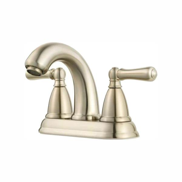 Canton 4 in. Centerset 2-Handle Bathroom Faucet in Brushed Nickel