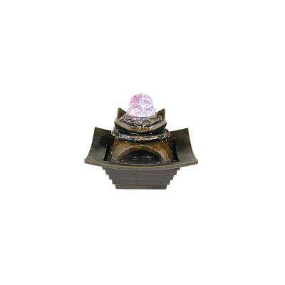 7 in. Antique Water Fountain with LED Light