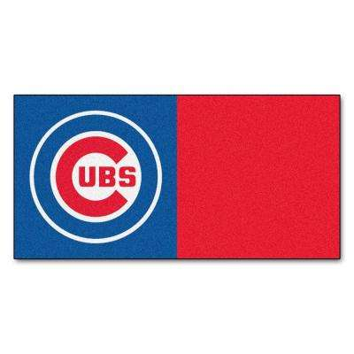 MLB - Chicago Cubs Blue and Red Nylon 18 in. x 18 in. Carpet Tile (20 Tiles/Case)