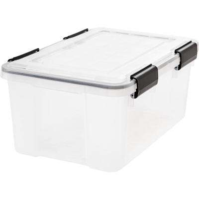 19-Qt. Weathertight Storage Box in Clear (6-Pack)