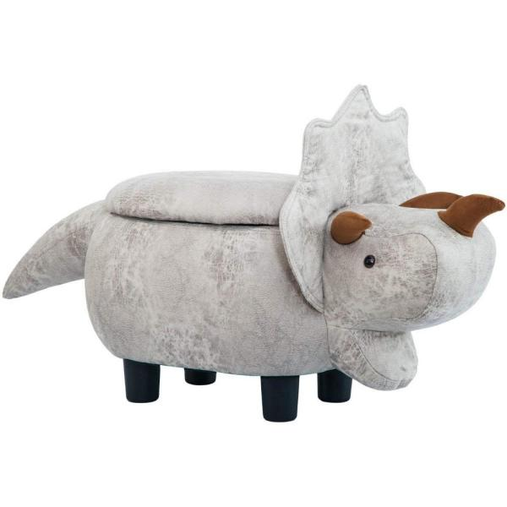 Merax Grey Dinosaur Animal Storage Ottoman Footrest Stool WF187575EAA