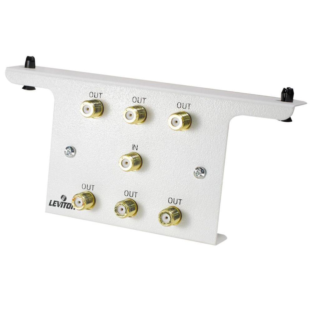 Leviton Structured Media 1 to 6 Passive Video Splitter Module-DISCONTINUED