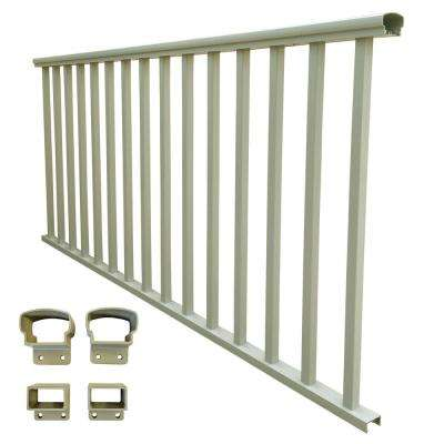 6 ft. x 42 in. Clay Aluminum Baluster Rail Kit