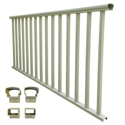 6 ft. x 36 in. Clay Aluminum Baluster Rail Kit