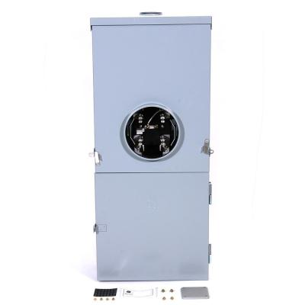 200 Amp 4-Space 8-Circuit Outdoor Combination Main Breaker/Ringless Meter Socket Load Center