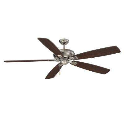 Vicki 68 in. Indoor Brushed Pewter Ceiling Fan