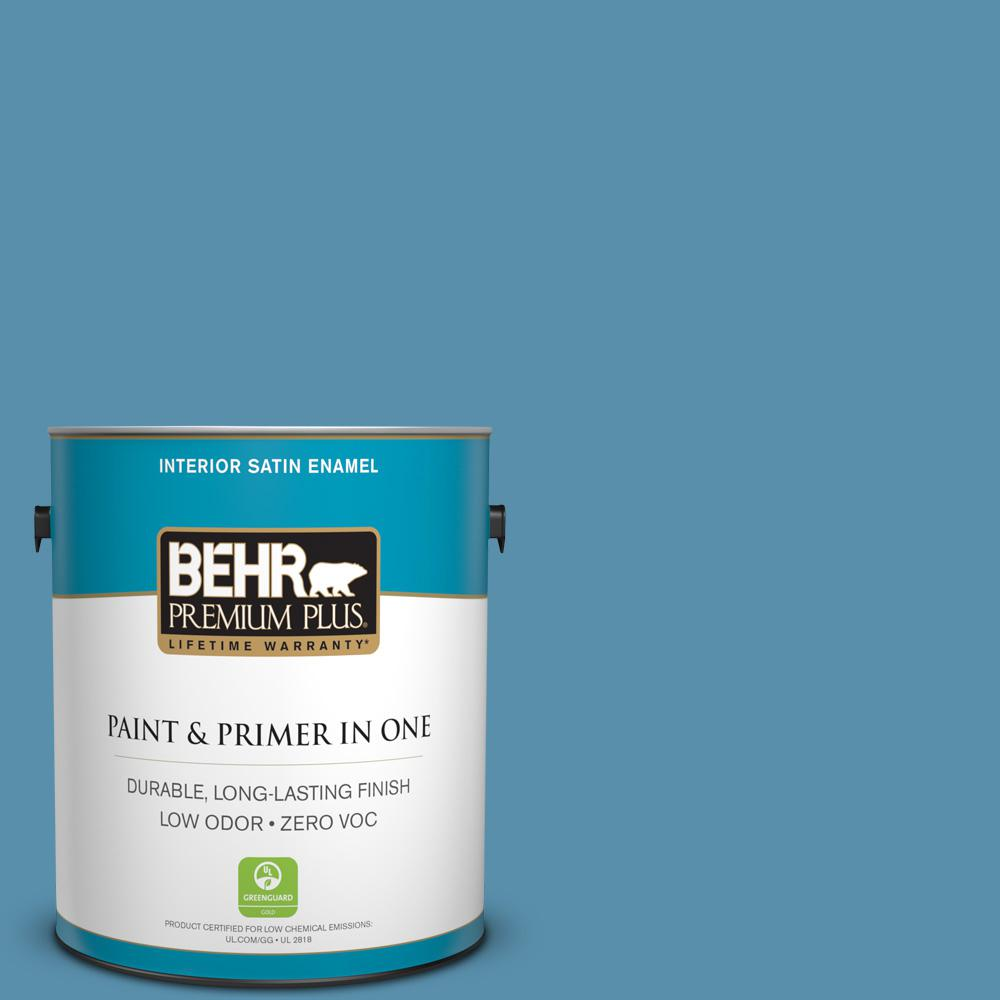 1-gal. #S500-5 Treasure Map Satin Enamel Interior Paint