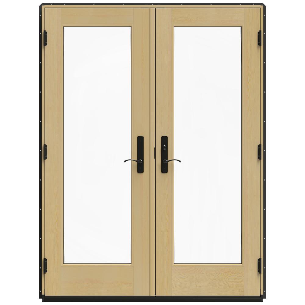 jeld wen 60 in x 80 in w 4500 bronze clad wood - 60 Patio Door
