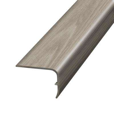 Blue Cedar Grey 1.32 in. Thick x 1.88 in. Wide x 78.7 in. Length Vinyl Stairnose Molding