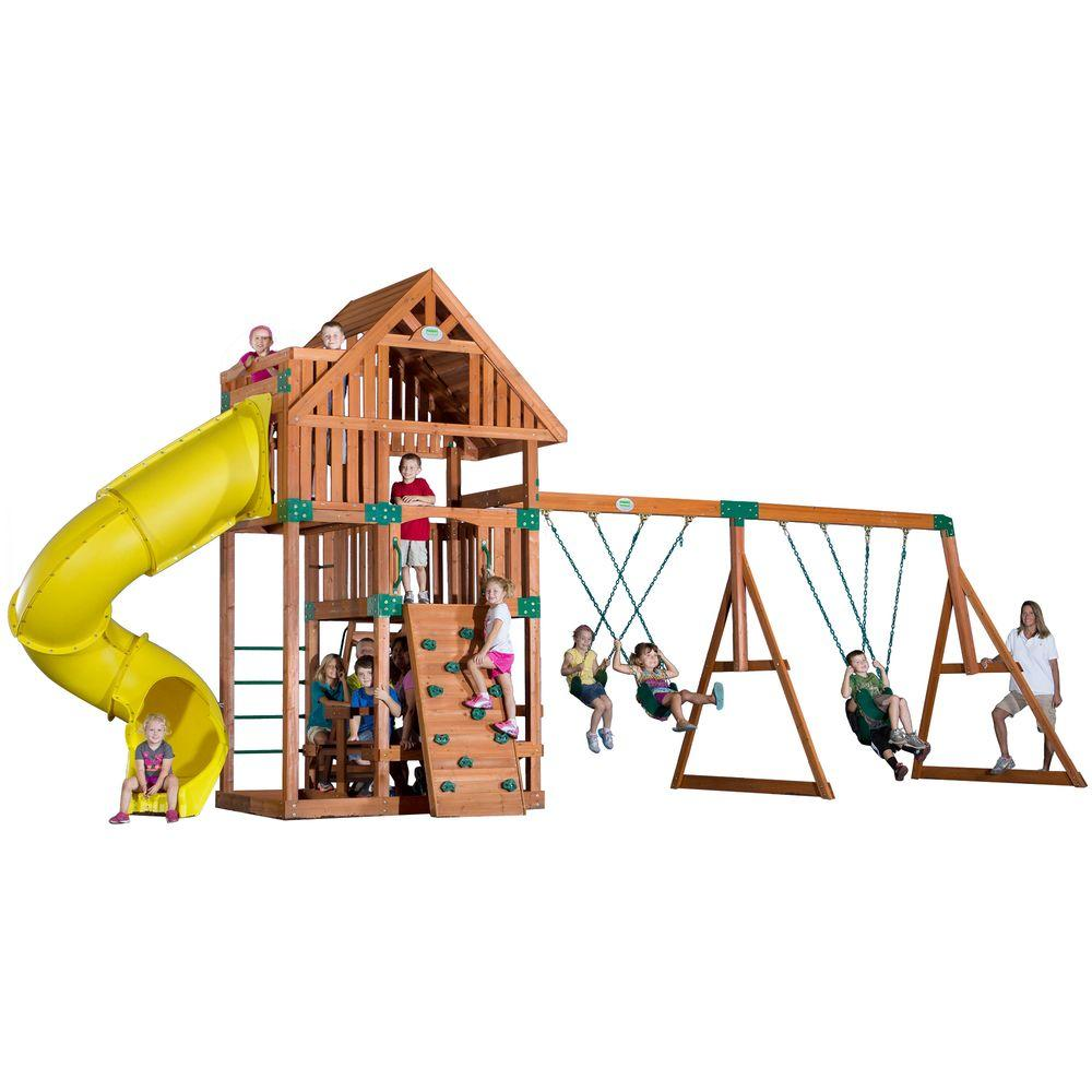 Backyard Discovery Excursion All Cedar Playset