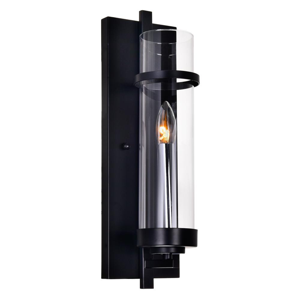 Cwi Lighting Sierra 1 Light Black