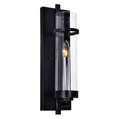 Sierra 1-Light Black Sconce