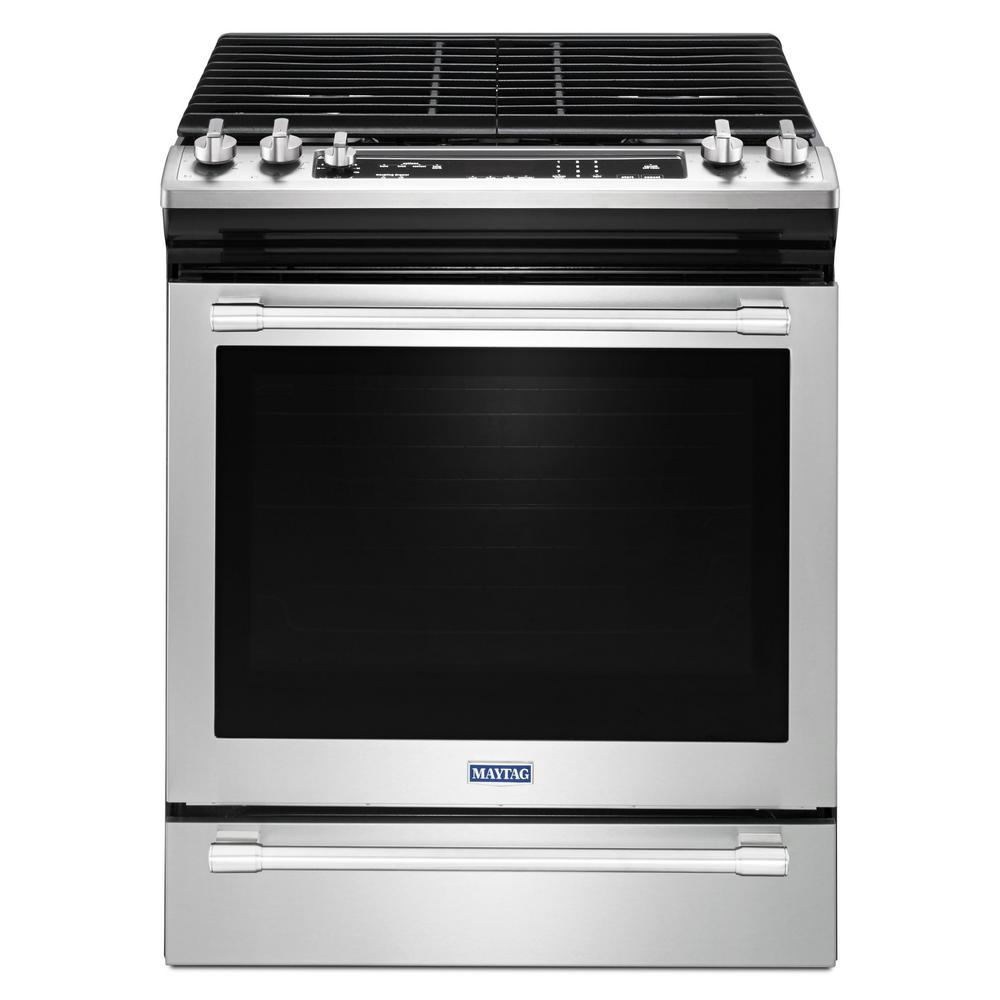 30 in. 5.8 cu. ft. Slide-In Gas Range with True Convection