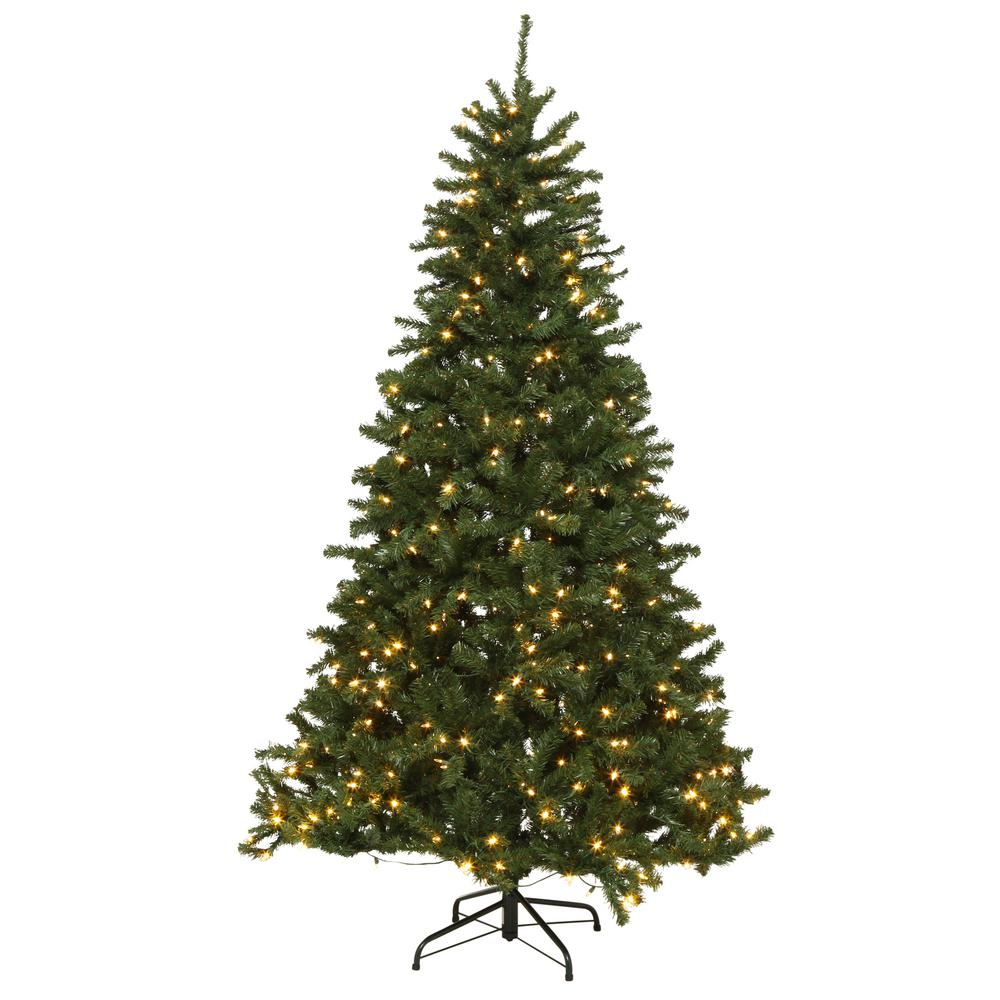 Pre Lit Christmas Tree Fuses: 7.5 Ft Prelit Artificial Christmas Tree Green Spruce 9