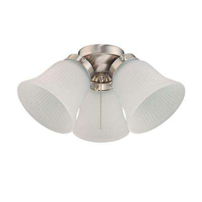 3-Light Brushed Nickel Ceiling Fan Light Kit