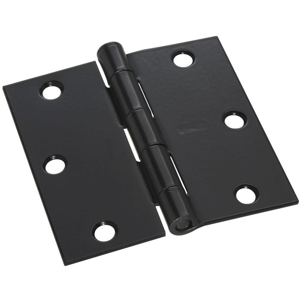 Stanley National Hardware 3 1 2 In Black Door Hinge V8027
