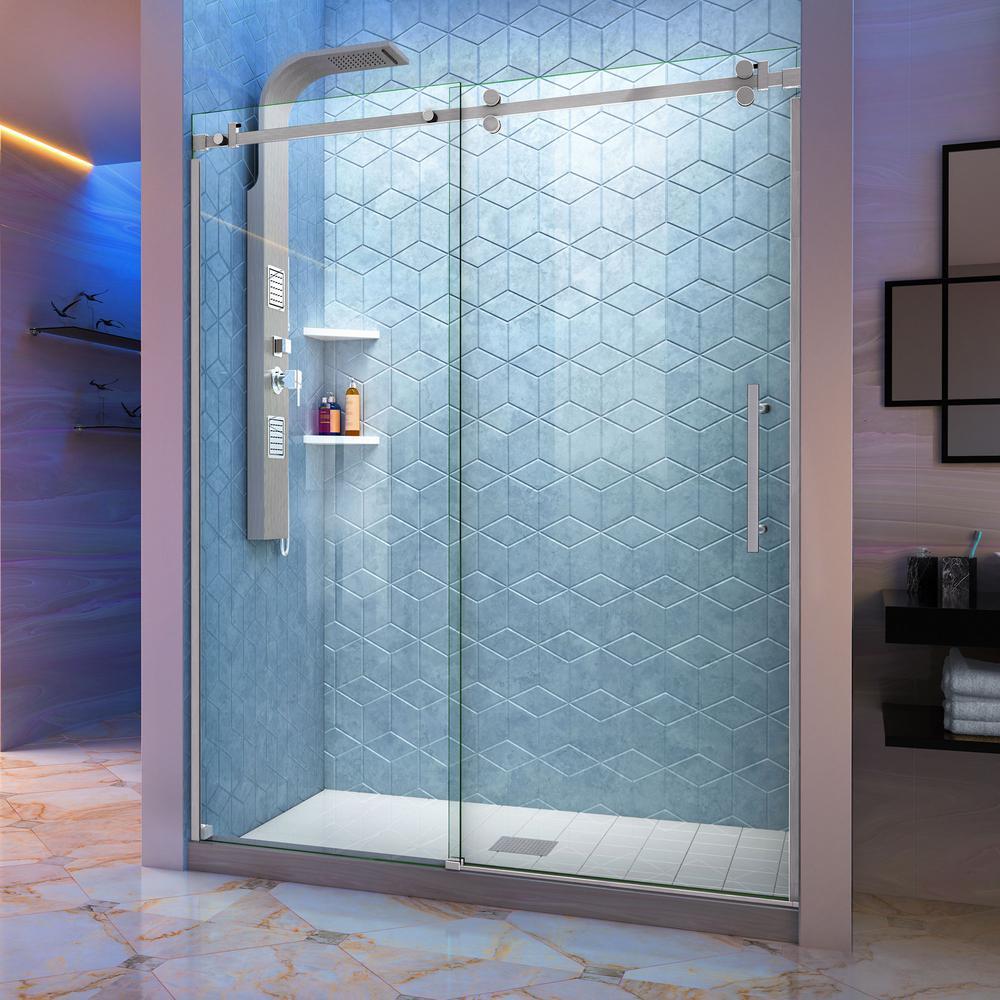H Frameless Sliding Shower