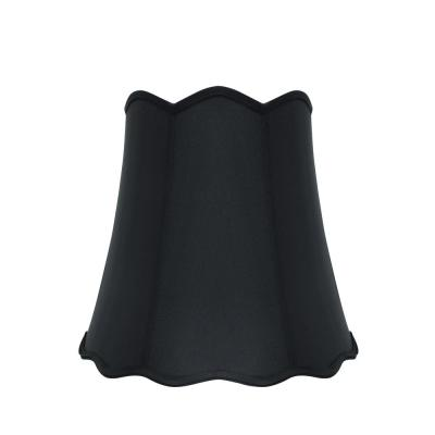 16 in. x 15 in. Black Scallop Bell Lamp Shade
