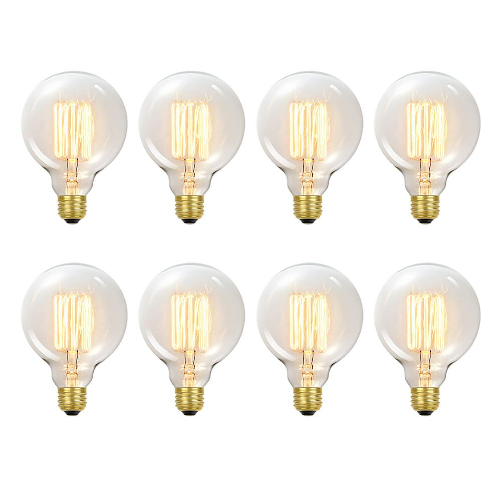 Globe Electric 60-Watt Incandescent G30 Vintage Vanity Tungsten Medium Base Light Bulb - Vintage Style Light Bulb (8-Pack)