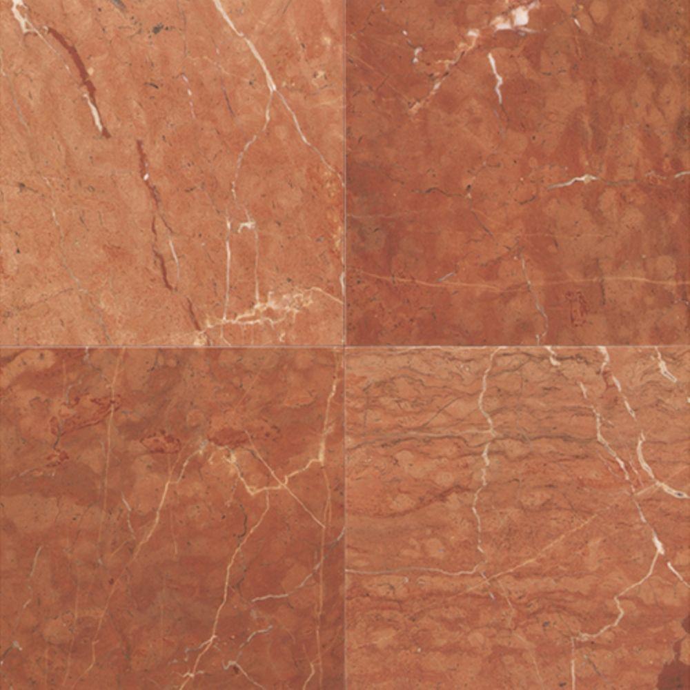 Red stone tile flooring