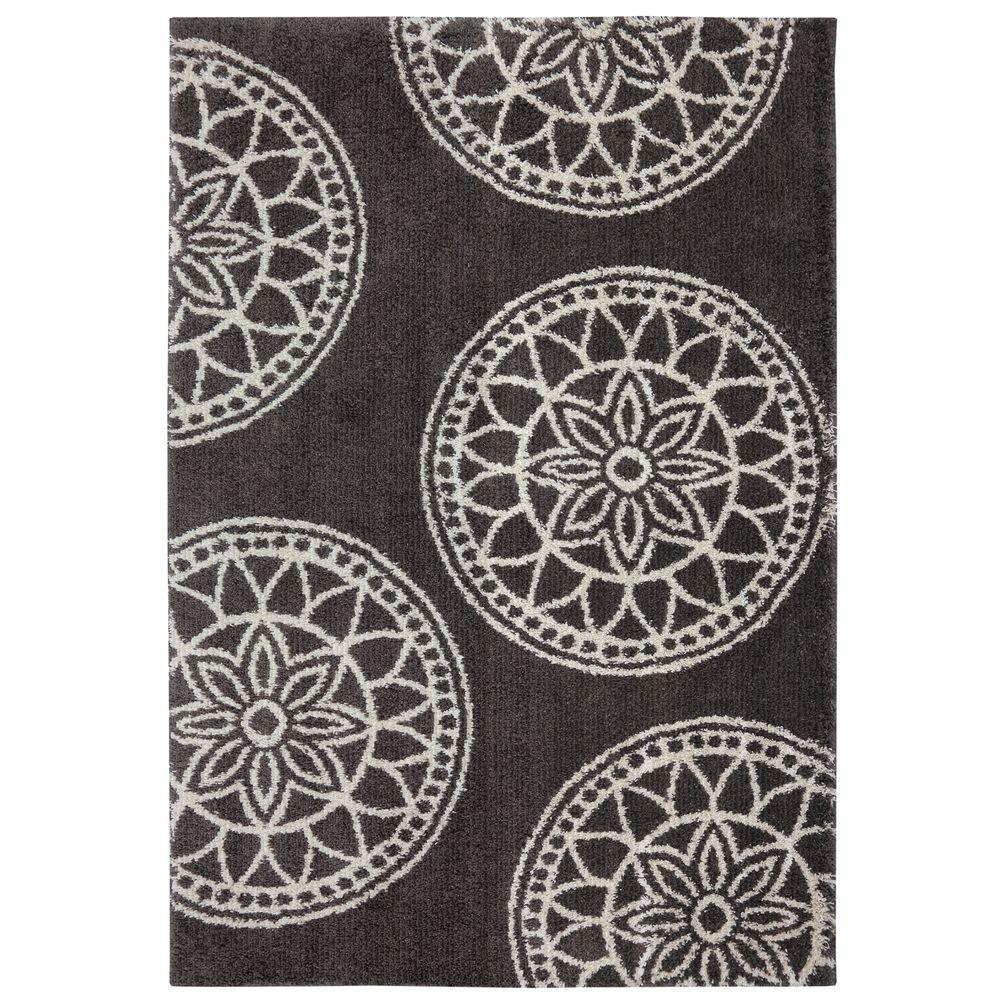 Mohawk Home Gray Medallions Gray Woven 5 Ft. X 7 Ft. Area