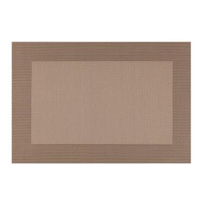 EveryTable Thick Border Shades of Taupe Placemat (Set of 12)