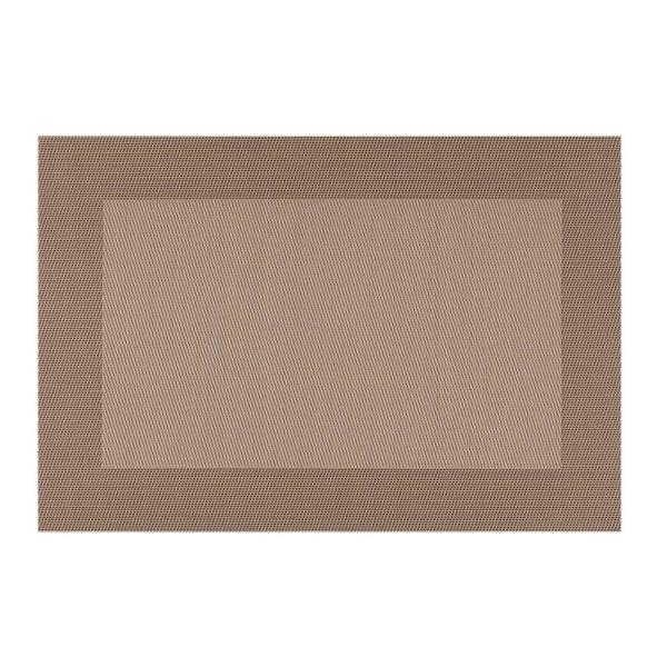 Kraftware EveryTable Thick Border Shades of Taupe Placemat (Set of 12)