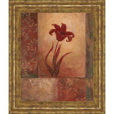 "22 in. x 26 in. ""Lily Silhouette"" by Vivian Flasch Framed Printed Wall Art"
