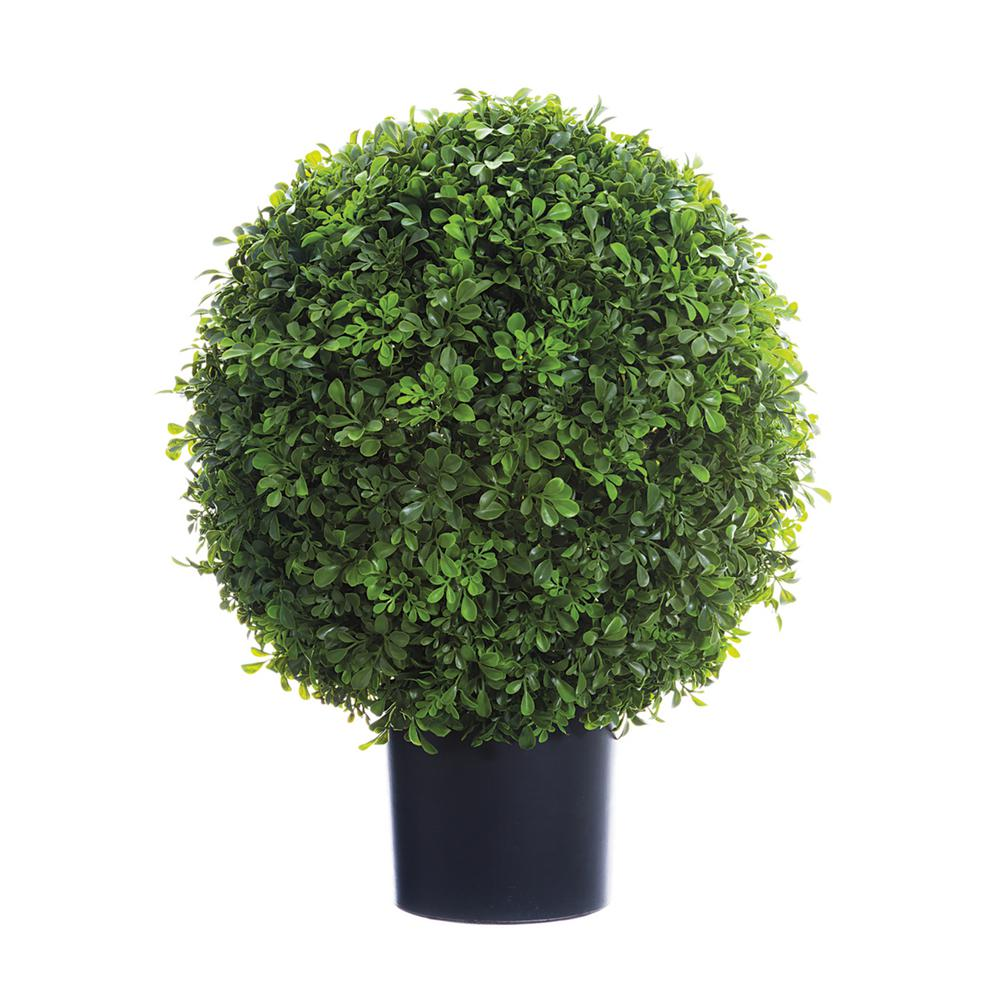 ALLSTATE FLORAL 22 in. Boxwood Ball Topiary in Nursery Pot was $183.75 now $114.62 (38.0% off)