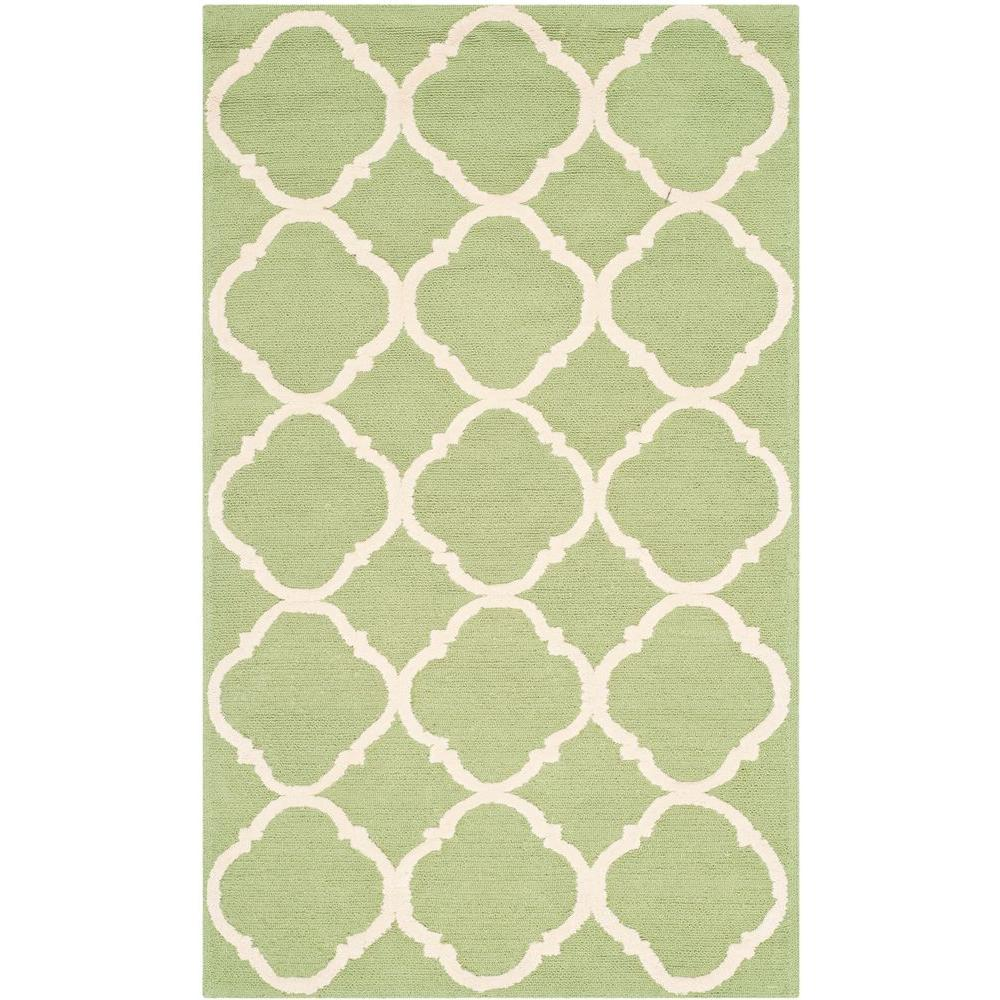 Safavieh Newport Green/Ivory 2 ft. 6 in. x 4 ft. 3 in. Area Rug