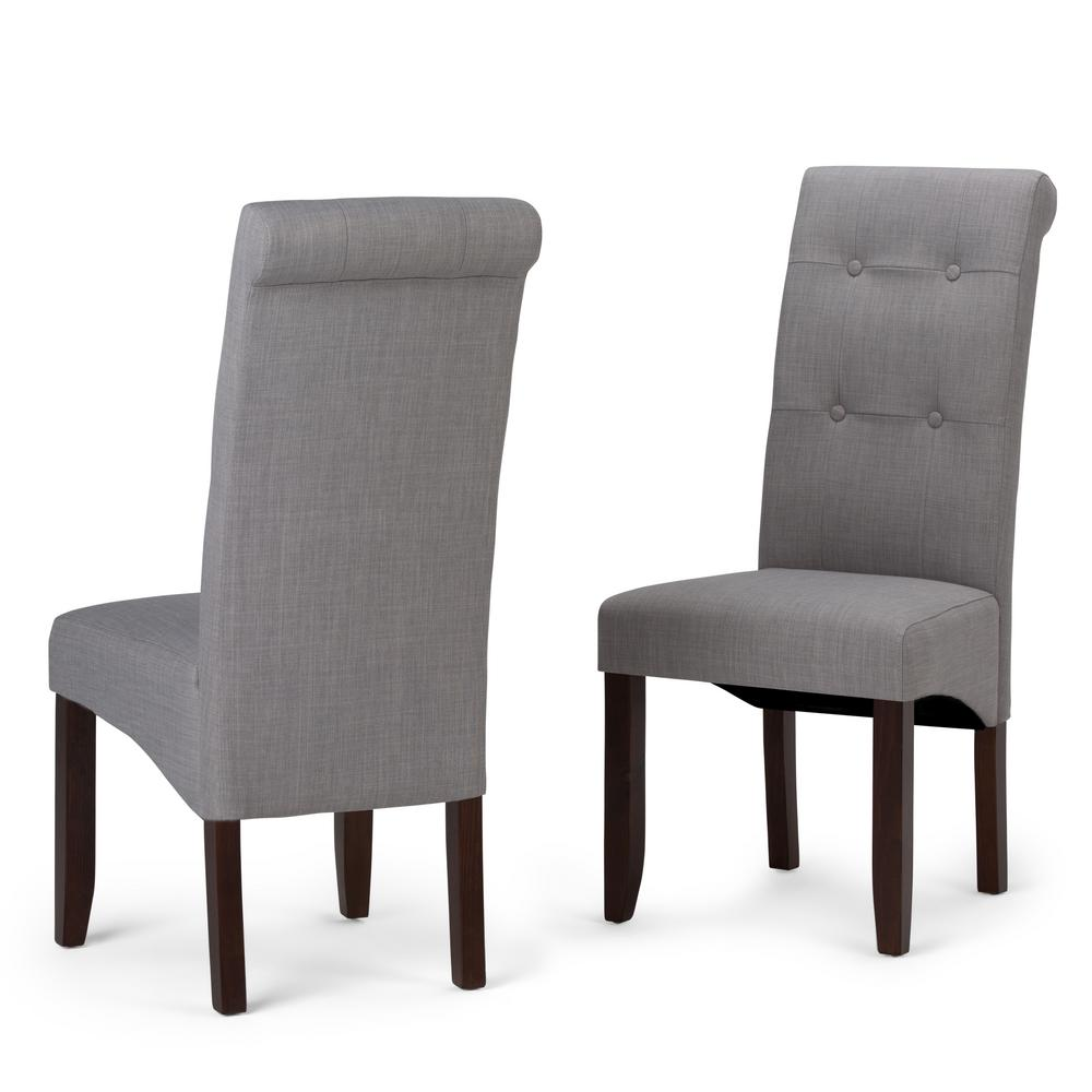 Simpli Home Cosmopolitan Dove Grey Parsons Dining Chair (Set Of 2)