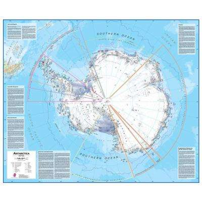 Antarctica 1:7 Wall Map