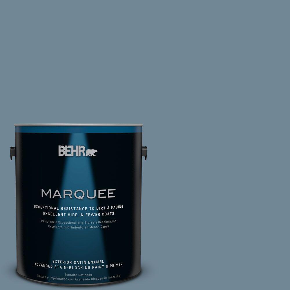 Home Decorators Collection 1-gal. #HDC-AC-24 Lyric Blue Satin Enamel Exterior