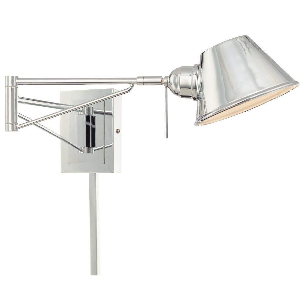 1 Light Chrome Swing Arm