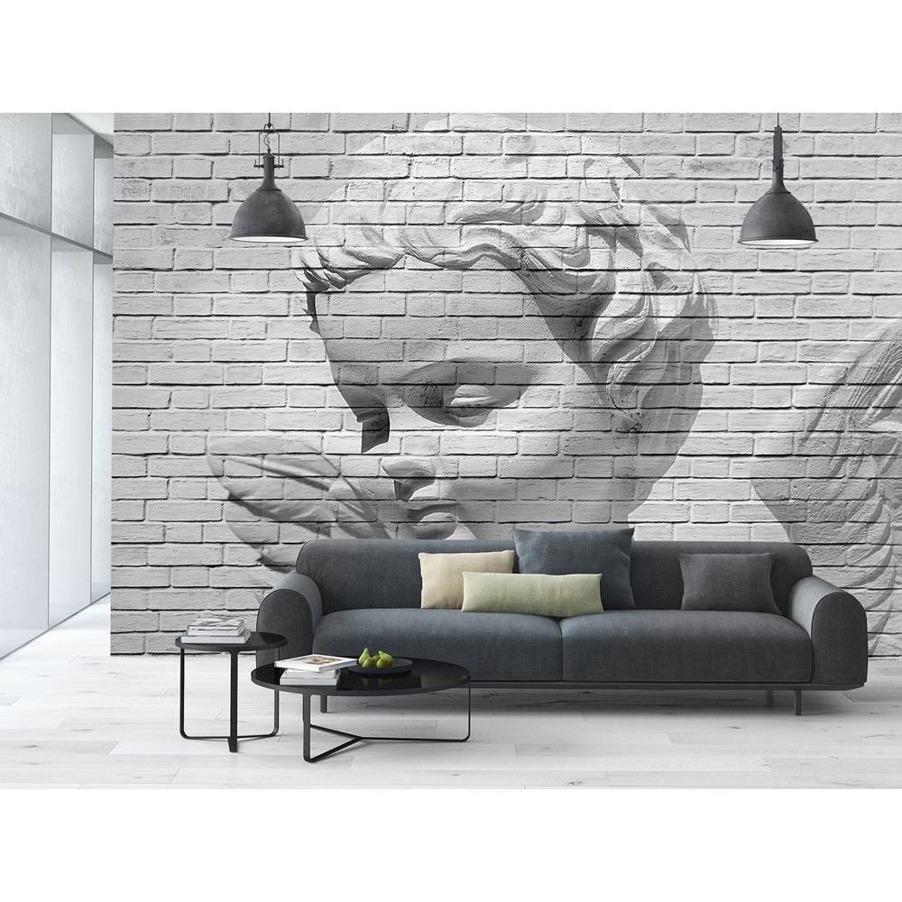 144 in. W x 100 in. H Angel Brick Wall Mural