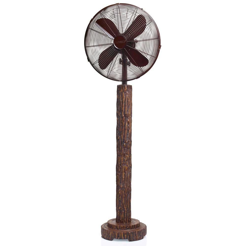 16 in. Fir Bark Floor Fan