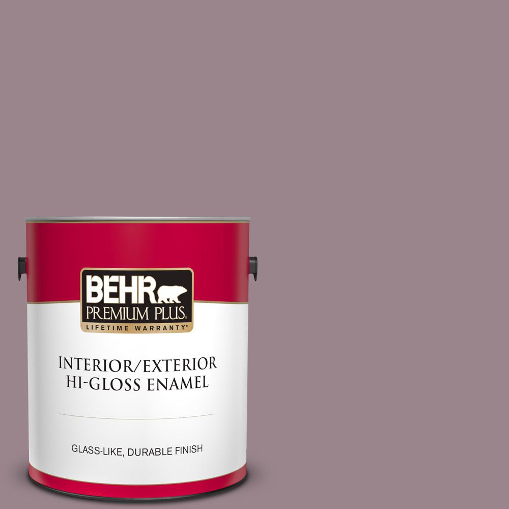 Behr Premium Plus 1 Gal Ppu17 14 Dream Sunset Hi Gloss Enamel Interior Exterior Paint 840001 The Home Depot