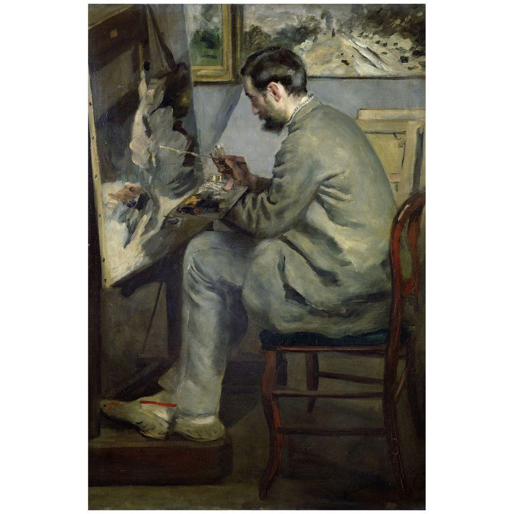 22 in. x 32 in. Frederic Barille at his Easel 1867