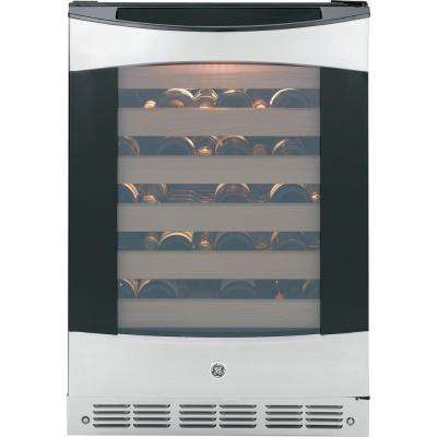 Profile 57-Bottle Wine Cooler in Stainless Steel