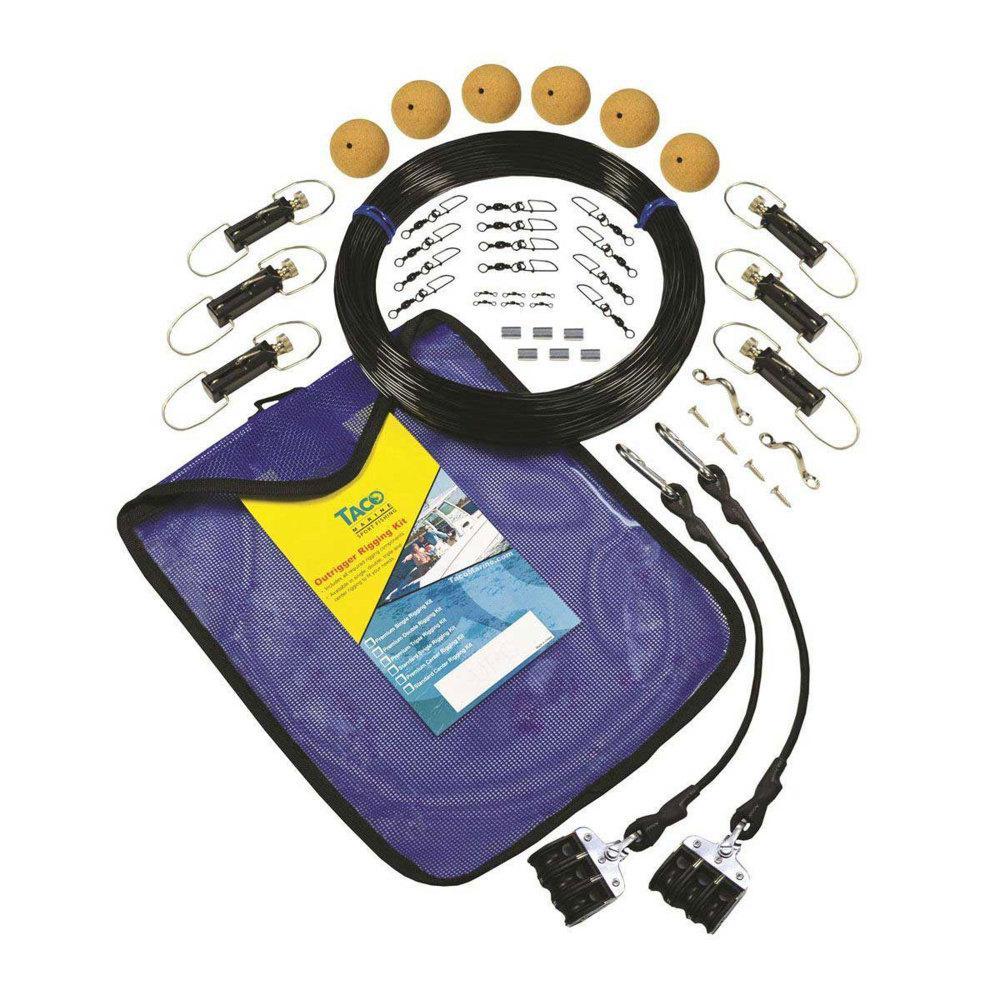 NEW Taco Outrigger Rigging Kit Premium Triple Mono Rigging Kit RK-0003MP