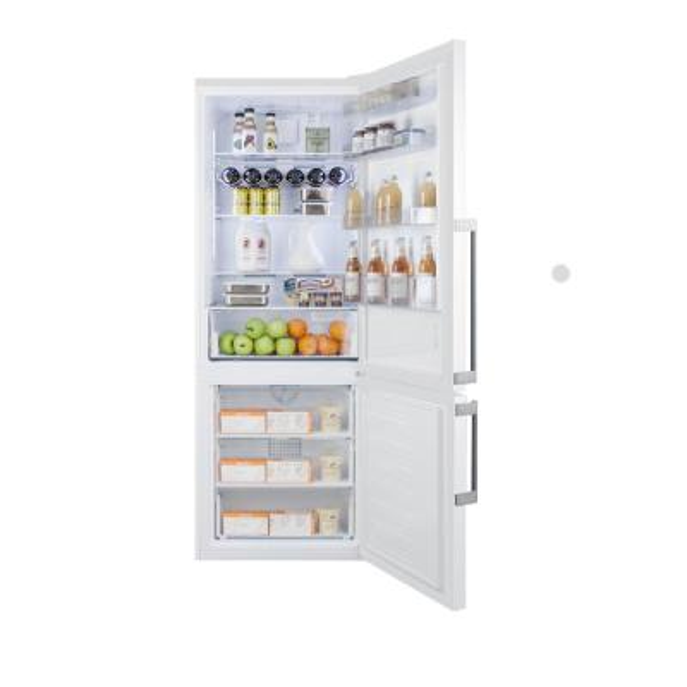 27 in. 16.8 cu. ft. Bottom Freezer Refrigerator in White, Counter Depth