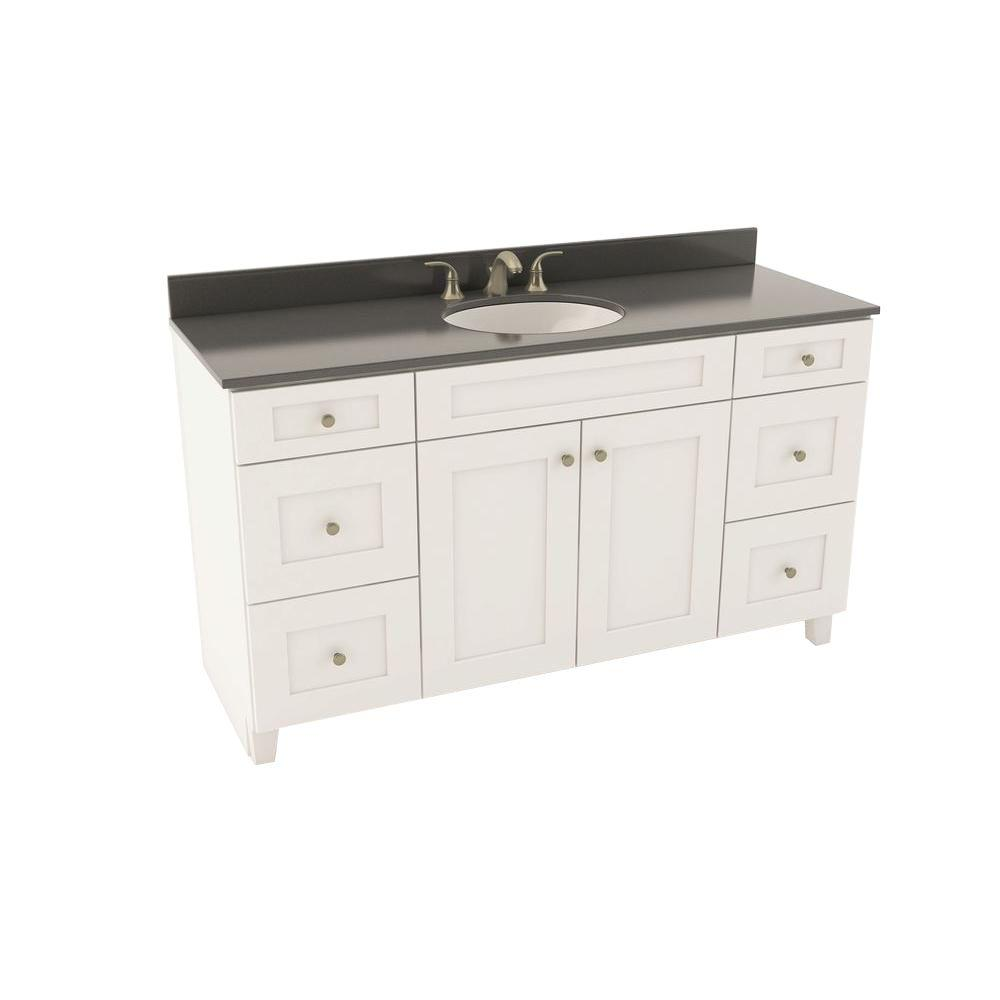 American Woodmark Reading 61 In Vanity In Linen With