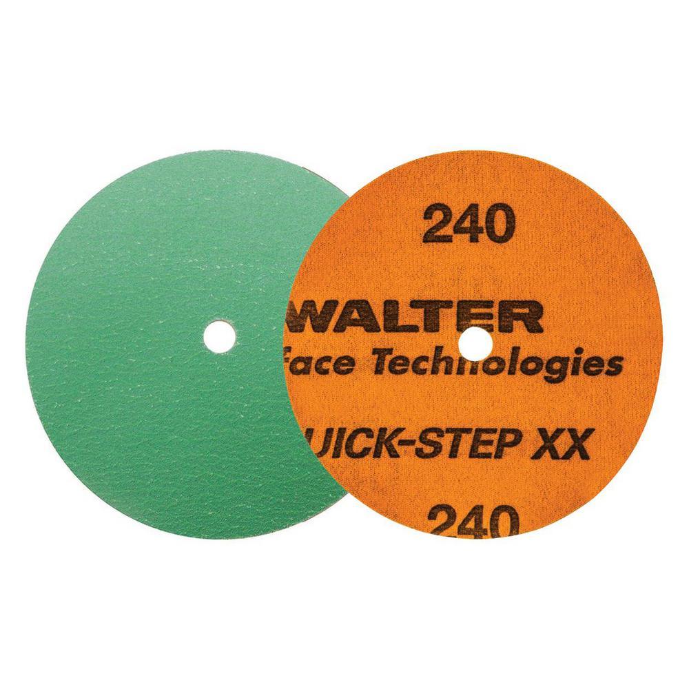 QUICK-STEP XX 4.5 in. x GR240 Velcro Sanding Discs (25-Pack)
